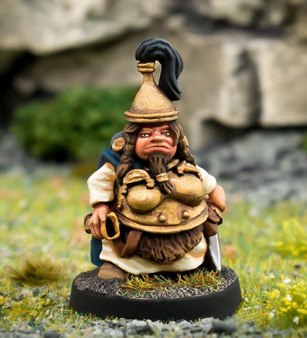 Beardfolk Dwarven Wyrmhunter 28mm white metal miniature northumbrian tin soldier