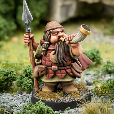 28mm Fantasy Miniature - Dwarven adventurer - Northumbrian Tin Soldier