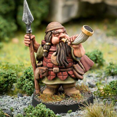 28mm Fantasy Miniature - Dwarven adventurer - Northumbrian Tin Soldier
