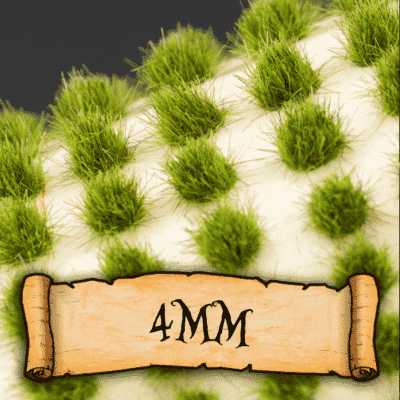 4mm Static Grass Tufts